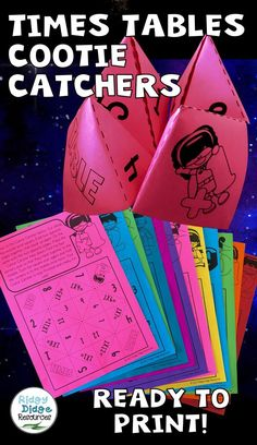 Times tables cootie catchers with a super hero theme. Your students will love practising their number facts using these easy to assemble cootie catchers. Math Teacher, Math Classroom, Teaching Math, Teacher Stuff, Math Resources, Math Activities, Math Groups, Math Intervention, Times Tables