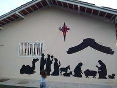 Presépio de sombras #Siegrid #Idéias #Natal