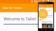 Talon for Twitter Beta Features Material Design Android users have been getting a taste of parts of Android's new Material Design before the Android L Developer Preview was even announced in Google apps such as Google+. Klinker Apps has released a beta of their Talon for Twitter app which features an overhaul utilizing most of the Material Design guidelines – and is one of the first developers to do so #talon #twitter #android #beta