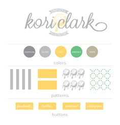 Kori Clark Branding Board- i would substitute an teal color in for the green