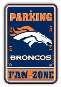 Denver Broncos Parking Sign