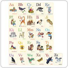 Mini Animal ABC's Vintage Flashcards