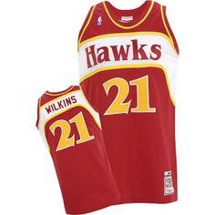 a26fac098 Dominique Wilkins Swingman In Red Adidas NBA Atlanta Hawks  21 Men s  Throwback Jersey Dominique Wilkins