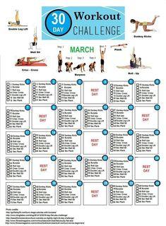 30 day workout challenge, beginner gym workout routine, workouts for arms, Beginner Gym Workout Routine, Month Workout, Gym Workouts, At Home Workouts, Workout Plans, Workout Ideas, Squat Challenge, 30 Day Workout Challenge, Beach Body Challenge