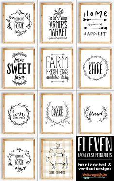 11 Farmhouse Printables