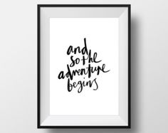 And So... The Adventure Begins Homemade by 127Productions on Etsy