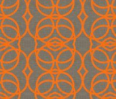 orange_circles_linen fabric by holli_zollinger on Spoonflower - custom fabric @Anne Cranz