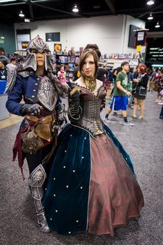 Dragon Age #Cosplay by Holly Conrad and Jessica Merizan at WonderCon 2014  sc 1 st  Pinterest & Lady Hawke from Dragon Age 2 Cosplayer: KiranaPhotographer: Panzer ...