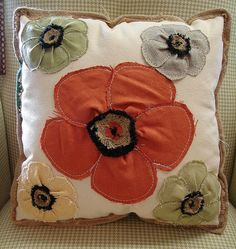 Reclaimed Feed Seed Coffee Sack Pillow Floral Poppy 15 Inch...SALE: $39...MORE INFO? Call 828-414-9700. by CURIOSITY. For You. Home. Garden., via Flickr