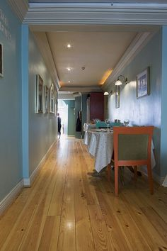 Heart Pine flooring, pre-finished with Osmo Polyx Oil and installed in a great Wexford Resturant, 'Cistin Eile'.