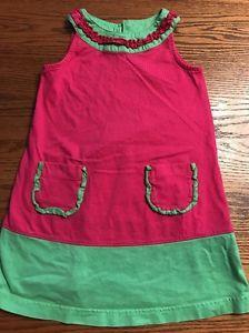 Hanna Andersson Toddler Girls Size 100, 4T Pink, Green Sleeveless Dress .99 Strt    eBay