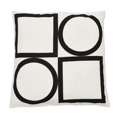 Sharp, chic, punchy and timeless. - Colour: Black / White Note: Every cushion is filled with a feather insert . Colour Black, Color, Tuxedo, Feather, Cushions, Note, Black And White, Mirror, Chic