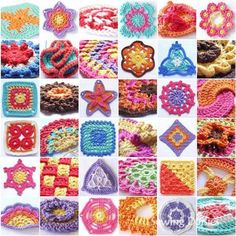 Blogger made and took pictures of all 144 motifs in Beyond the Square Crochet Motifs