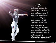 Fencing vs life