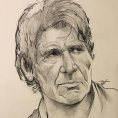 one more for today. #charcoal #portrait #starwarsart #fanart by brandon.kenney