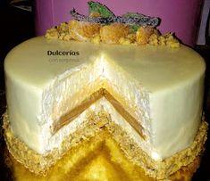 Dulcerías con sorpresa: Tarta mousse de vainilla con naranja, caramelo y chocolate blanco