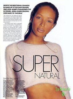 Elle Magazine 1994 Brandi Quinones makeup Billy B