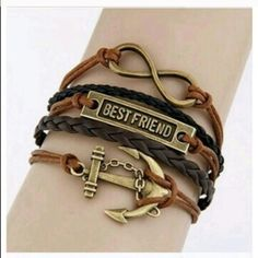 New Best Friend Anchor Leather Cord Bracelet Have a friend that was always there for you through thick and thin?  If so, this bracelet will be the perfect gift to give that friend to show your appreciation.  No swaps. No returns. Jewelry Bracelets