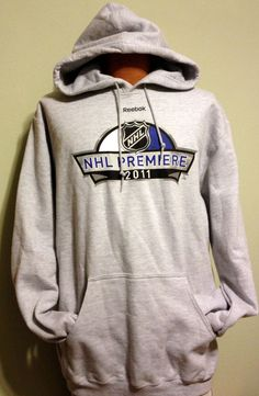 VINTAGE 2011 REEBOK NHL PREMIERE HOODED SWEATSHRT ADULT LARGE NEW NEVER WORN  #Reebok #NATIONALHOCKEYLEAGUE