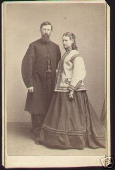 Both are deceased - soooo odd that they are standing and look like they are alive! Postmortem photograph