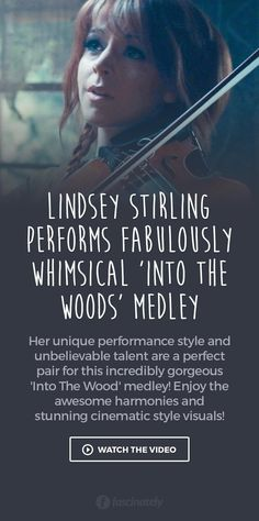 Lindsey Stirling Performs Fabulously Whimsical 'Into The Woods' Medley