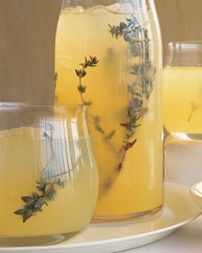 Vodka-Thyme Lemonade - to make if i ever have enough kitchen space for a juicer...