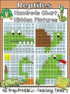 *NO PREP-PRINT & GO* I live in the swamp and swim all around. What reptile animal will be found? Your kiddos will have fun coloring in their hundreds chart to discover their hidden reptile animal- Great to use with a lesson on habitats and a wonderful way to incorporate math into your science lessons a big indicator in your teacher evaluations. **** Table of Contents ***** Pg. 1- COVER PAGE Pg. 2- ALLIGATOR HIDDEN PICTURE Pg. 3- ALLIGATOR HIDDEN PICTURE ANSWER KEY Pg. 4- TURTLE HIDDEN...