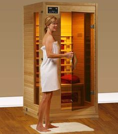 Perfect Heat Buena Vista 1 Person Ceramic Infrared Home Sauna  $804.95.  A great Christmas gift idea.