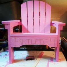 modified kids Adirondack | Do It Yourself Home Projects from Ana-White.com