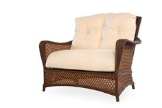 A grand traverse style Lloyd Flanders half cuddle #chair is your best bet for total comfort out on the lawn, #porch, deck, #patio, wherever! Its spacious design provides for a relaxing seating experience. Please comment if this is a chair you would love at your home! | Northern VA | Lawn & Leisure
