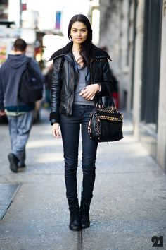 Shanina Shaik street style  Be featured in Model Citizen App, Magazine and Blog.  www.modelcitizenapp.com