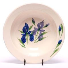 'Field of Iris' pattern soup bowl