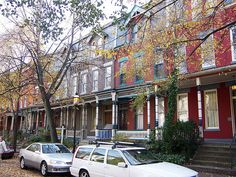 Rowhouses, Pittsburgh, Pennsylvania,  Allegheny West Historic District, Beech Avenue (via Flickr.)