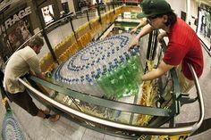 Art Installation from reused plastic bottles: 'FRAJILE' at Eaton Centre