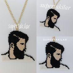 Miyuki Yakışıklı Designed by @supertakilar Kendi tasarımım... #miyuki #handmade #supertakilar #handsome #yakışıklı #handcrafted #diy #elemeği #elyapımı #kolye #necklace