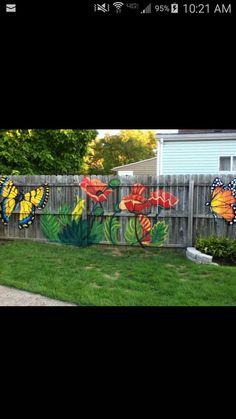 68 Trendy Backyard Landscaping Along Fence Plants Retaining Walls Backyard Landscaping Garden Fence Art, Garden Mural, Garden Pallet, Diy Fence, Garden Gates, Garden Tips, Pallet Gardening, Farm Fence, Fence Landscaping