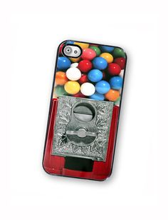 Gumball Machine iPhone Case, fits iPhone 4 and iPhone 4S - Black Trim