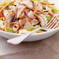 Napa Cabbage and Grilled Pork Salad Ginger Pork, Pickled Ginger, Ricardo Recipe, Pork Salad, Napa Cabbage, Chinese Cabbage, Green Peas, Grilled Pork, Pork Chops