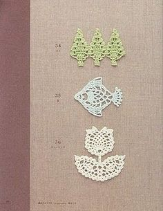 Cute little crochet motifs.  Being Dutch I especially like the tulip.