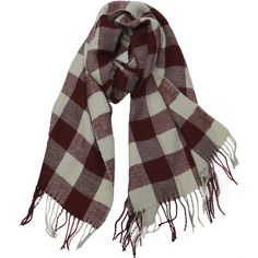 Buffalo Check Plaid Extra Large Warm Soft Wool Feel Scarf ($16) ❤ liked on Polyvore featuring accessories, scarves, tartan plaid scarves, plaid scarves, wool scarves, tartan shawl and tartan plaid shawl