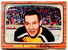 1966 67 Topps Johnny Bucyk Card  39 Boston Bruins Topps https    eaf0d69c2