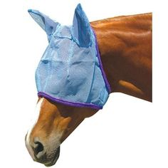 Fly Mask w/Ear Protection-Blue Horse