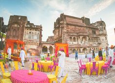 Village fair themed Mehendi and Sangeet event we arranged at Meherangarh Fort in Jodhpur. #IndianWedding #WeddingPlanner #MeherangarhFort