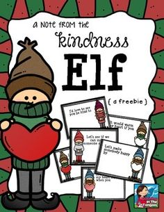 Please come back and take 10 seconds to leave feedback! I'd really appreciate it and will keep the FREEBIES coming if I get more feedback!These little notes will surely make it easier for you to implement a kindness elf in your classroom or home this year!