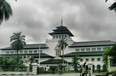 Gedung sate Bandung,Gedung sate Bandung  Northern side  Southern side Gedung Sate, is a neo-classical building mixed with native elements. Once the seat of the Dutch East Indies department of Transport, Public Works and Water Management, it now serves as the governor's office of the West Java province in Indonesia. Located in Bandung, it was built in 1920 after a design by Dutch architect J. Gerber.
