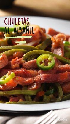 Quick Recipes, Pork Recipes, Mexican Food Recipes, Cooking Recipes, Healthy Recipes, Tasty Videos, Food Videos, Thin Pork Chops, Mexico Food