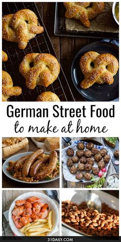 With Oktoberfest just around the corner and the German Christmas Markets still to come, we've gathered some easy recipes to make these oh-so-yummy German Street Foods at home! Easy German Street Food Ideas to Make at Home | 31Daily.com #germanfood #germanrecipes #Oktoberfest #streetfood #gamefood #31Daily