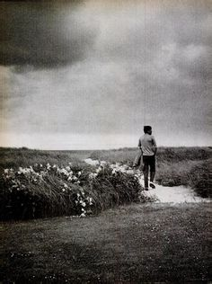 This was President Kennedy's favorite photograph. He loved to walk on the dunes near Hyannis Port.