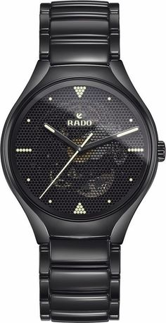 Rado True Phospho Limited Edition Black Ceramic Case and Bracelet Men's Watch Hobbies For Men, Custom Design Shoes, Skeleton Watches, Hand Watch, Vintage Watches For Men, Jewelry Show, Expensive Jewelry, Watch Sale, Leather Accessories