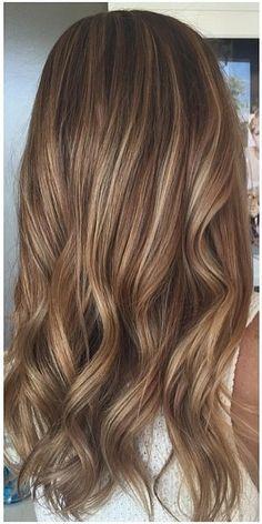 beachy brunette balayage highlights